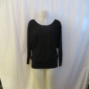 VINCE BLACK BOAT NECK KNIT SWEATER TOP XS